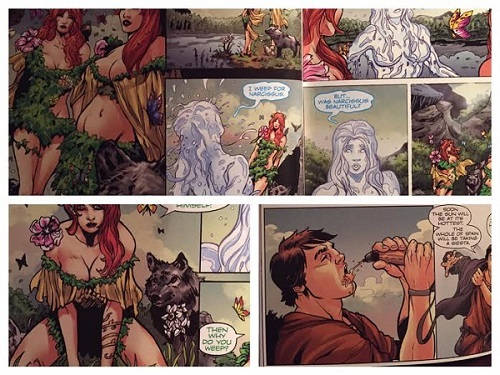 Some questionably sexual panels from The Alchemist graphic novel