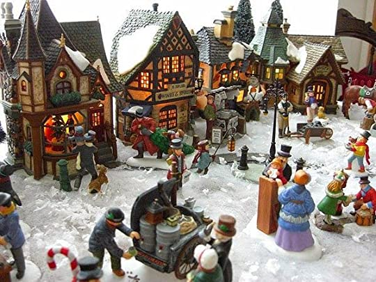 holiday village display: