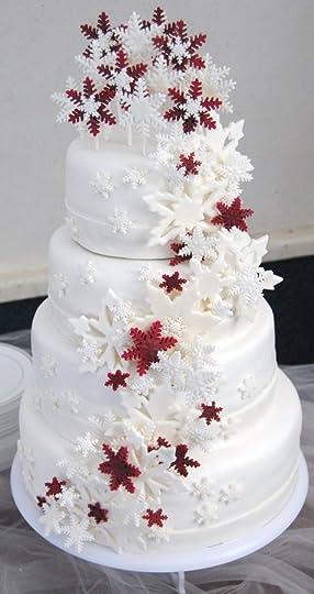 Christmas wedding cake: