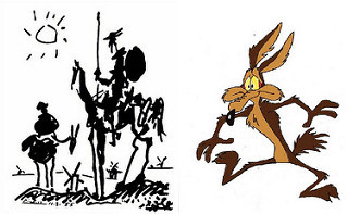 Don Quixote and Wile E Coyote