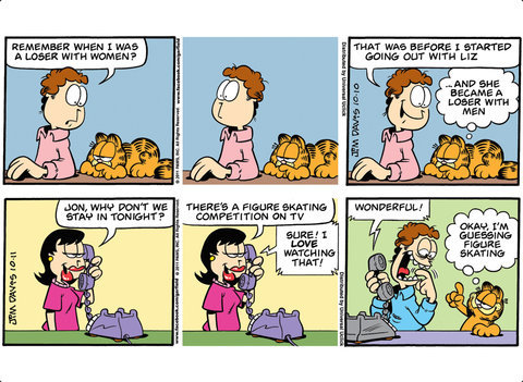 Garfield Goes To His Happy Place His 58th Book By Jim Davis