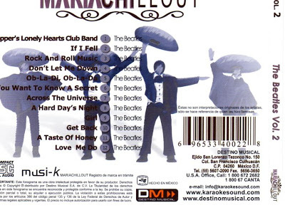 Mariachillout Beatles back cover