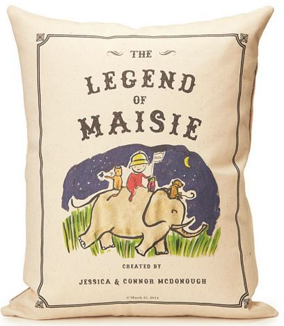 PERSONALIZED STORYBOOK PILLOW from UncommonGoods.com
