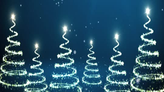 Lighted Chrismas trees