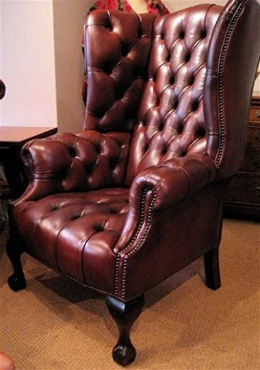 high back leather chair: