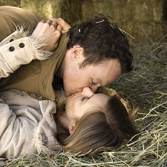 kissing in the barn: