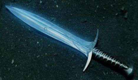 glowing knife: