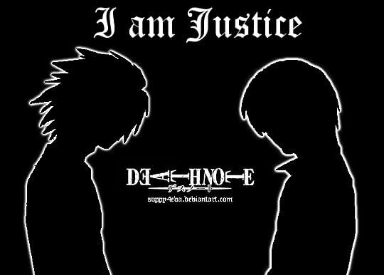 e166fb5be6f62 هي حكاية لا يمكنك أن تلتزم بجانب واحد فيها ...من يمتلك المفكرة ويقتل  المجرمين ام من يبحث عنه ليقدمه للعدالة كلاهما خير