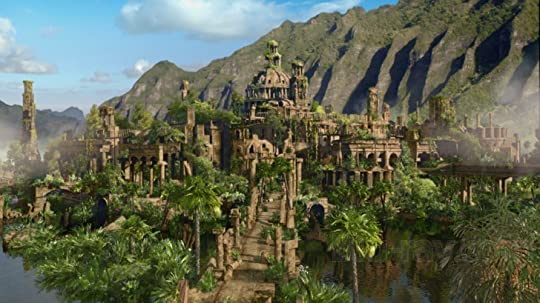 Ancient ruins on a mysterious island