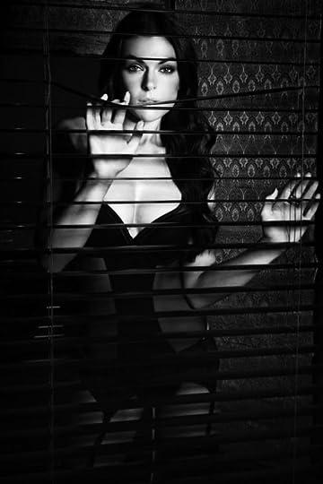 peeking through the blinds: