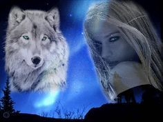 woman and wolf: