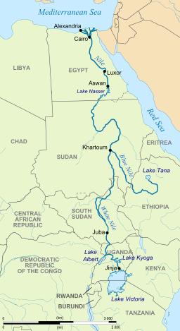 River Nile map