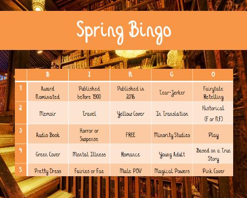 spring bingo board