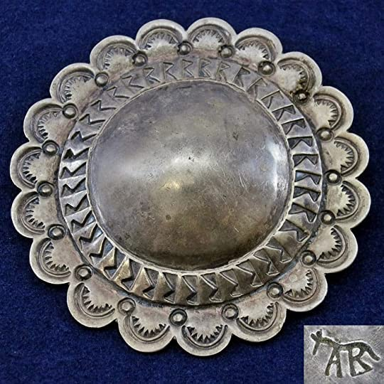 a53afdacc9ab Silver concho pin by Ambrose Roanhorse. Courtesy Karen Sires