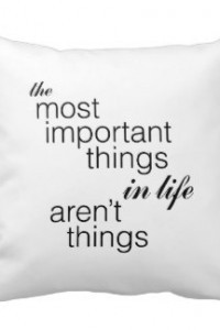 Most important things pillow