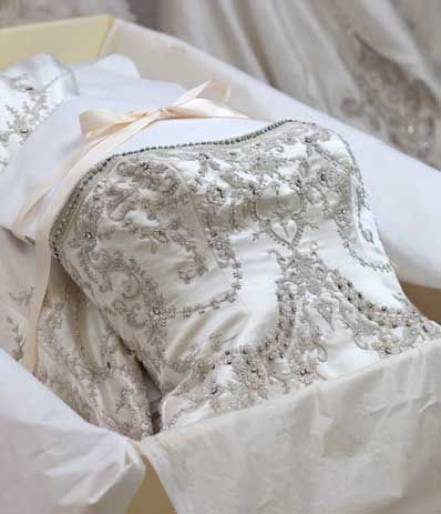 wedding dress in the box: