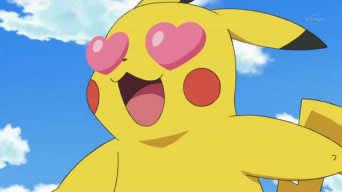 pikachu heart eyes