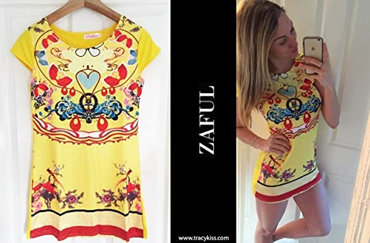 9f48fa25a0 Zaful Yellow Boho Print Mini Dress