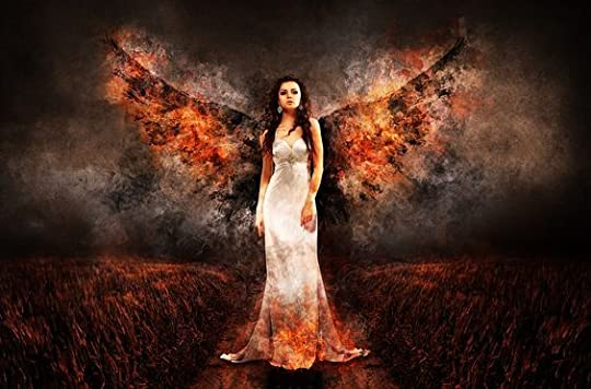 winged woman: