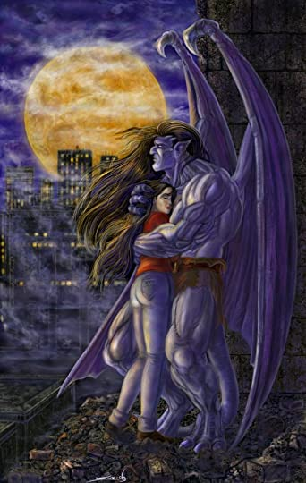 Gargoyle and woman: