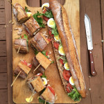 No ham and cheese sandwiches here. Instead, make a classic pan bagnat based on salade Nicoise. Credit: 2016 Andrea Slonecker