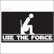 USE THE FORCE FUNNY WC TOILET STICKER DECAL VINY