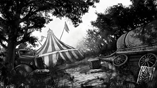 Drawing of an circus tent