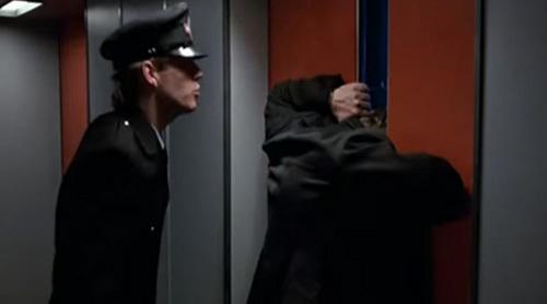 people stuck in elevator. lift stuck j people in elevator
