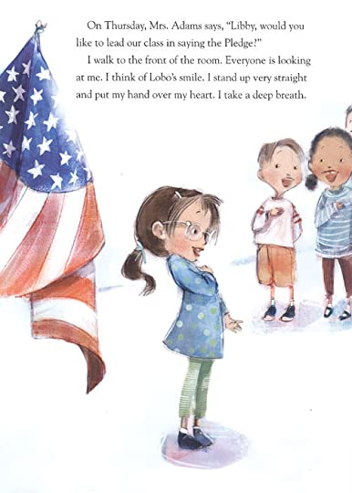Illustration from I Pledge Allegiance, by Pat Mora & Libby Martinez, illustrated by Patrice Barton