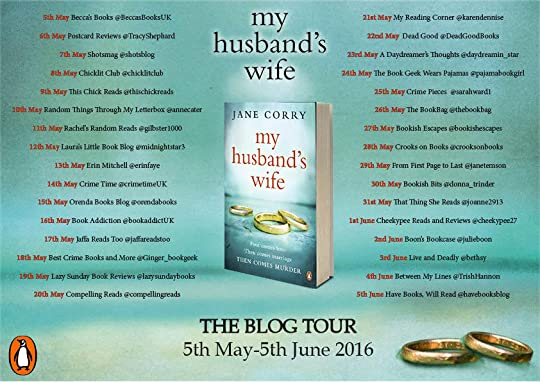 My Husbands Wife blog tour poster