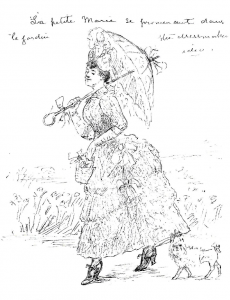 Mary Lawrence in French dress