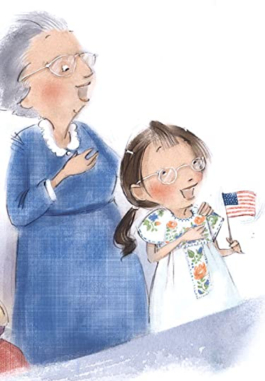 Illustration by Patrice Barton from I Pledge Allegiance by Pat Mora and Libby Martinez