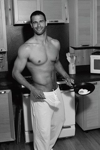 See....a man cooking is sexy.: