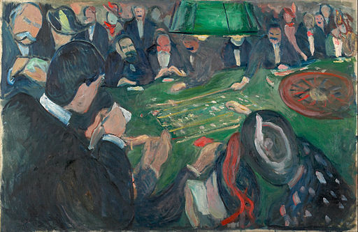 Edvard Munch - At the Roulette Table in Monte Carlo - Google Art Project