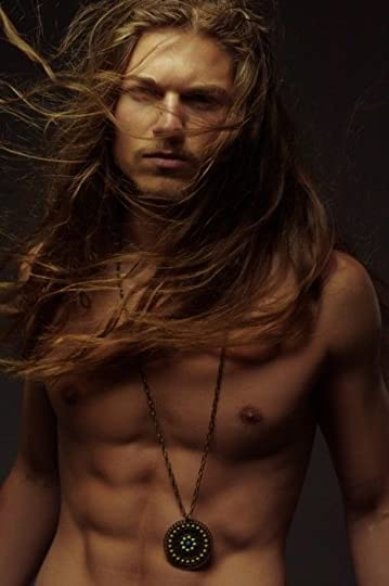 long haired sexy man: