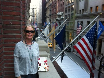 Christine in NY for the book launch