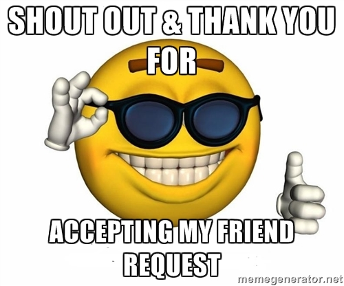 Image result for thanks for accepting my friend request
