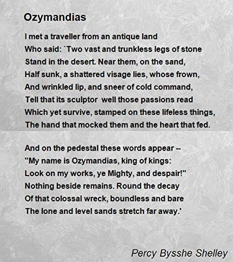 Ozymandias by percy bysshe shelley here read by bryan cranston fandeluxe PDF