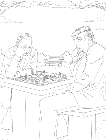 The Trump Coloring Book By MG Anthony