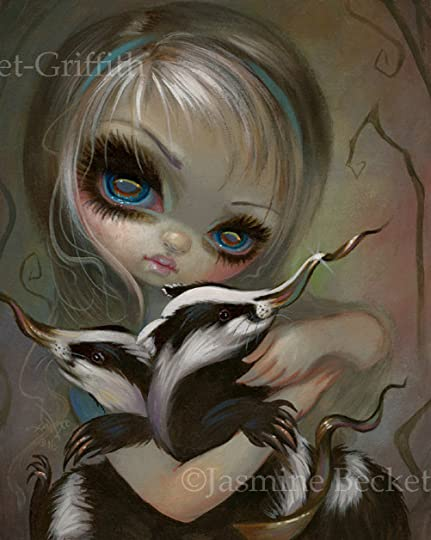 Backyard Birds fairy Jasmine Becket-Griffith CANVAS PRINT fantasy big eye art