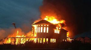 house fire: