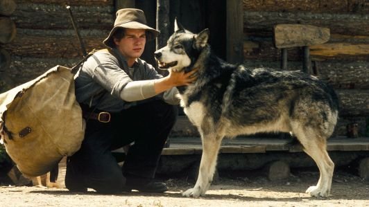 Weedon Scott and White Fang, image from movie