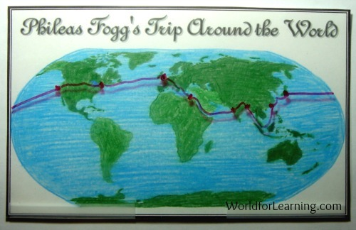 Phineas Fogg's Route