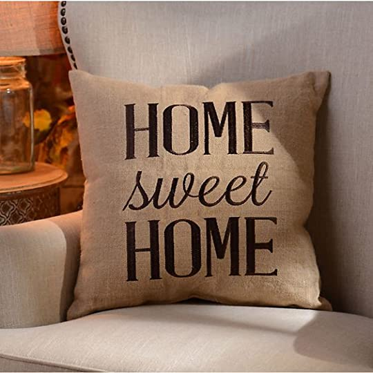 Home Sweet Home Burlap Pillow: