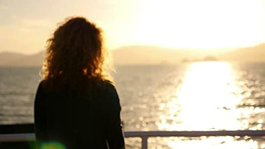 lonely woman on a ferry: