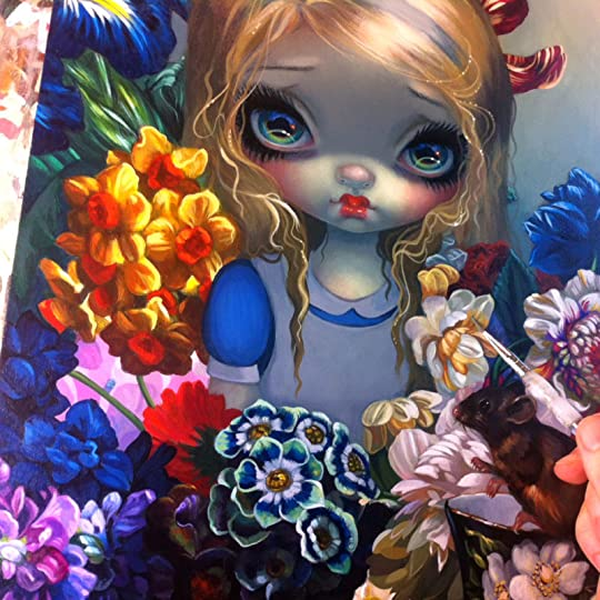 The Language of Flowers I Jasmine Becket-Griffith CANVAS PRINT gothic fairy art