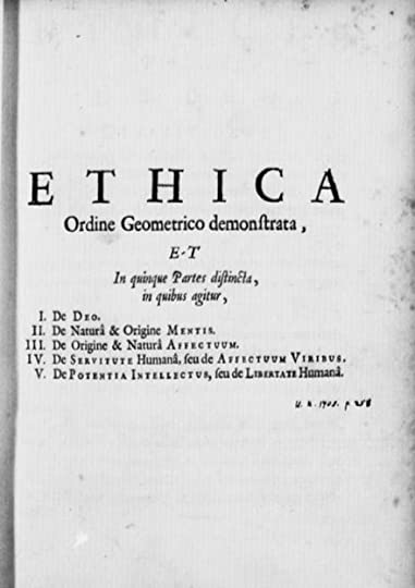 Resultado de imagen de ethica ordine geometrico demonstrata