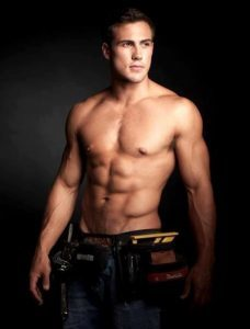 sexy man with tool belt