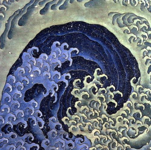 Feminine Wave, by Hokusai