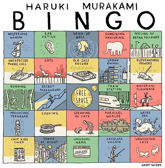 The NYT Murakami bingo card